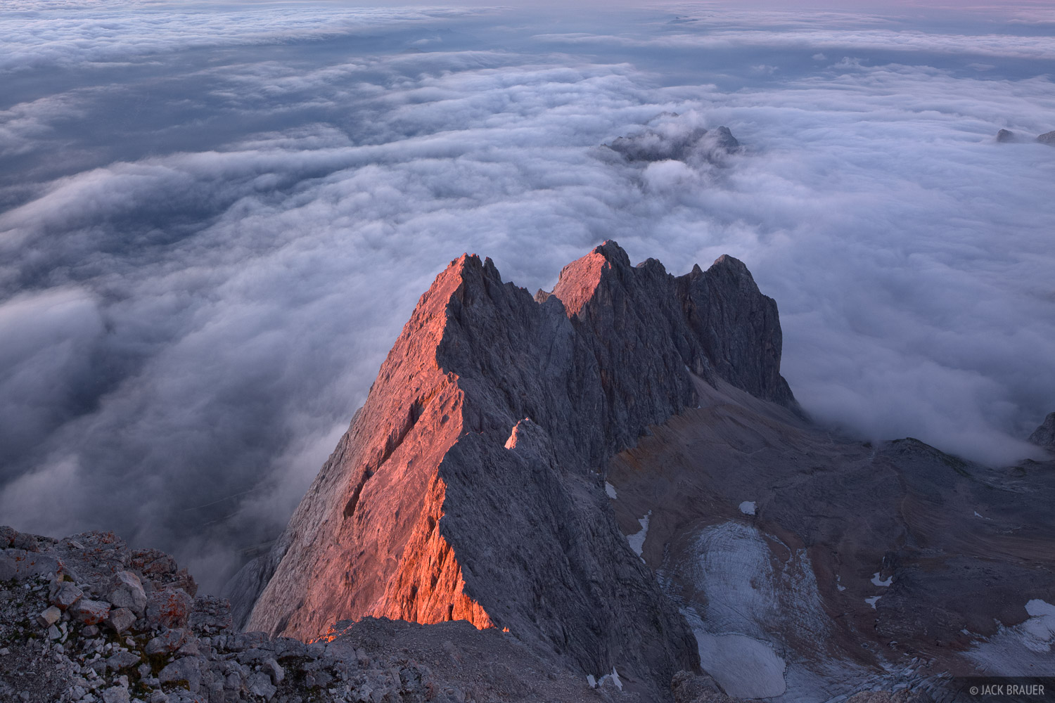 Zugspitze, Wettersteingebirge, Germany, sunset, clouds, Alps, photo