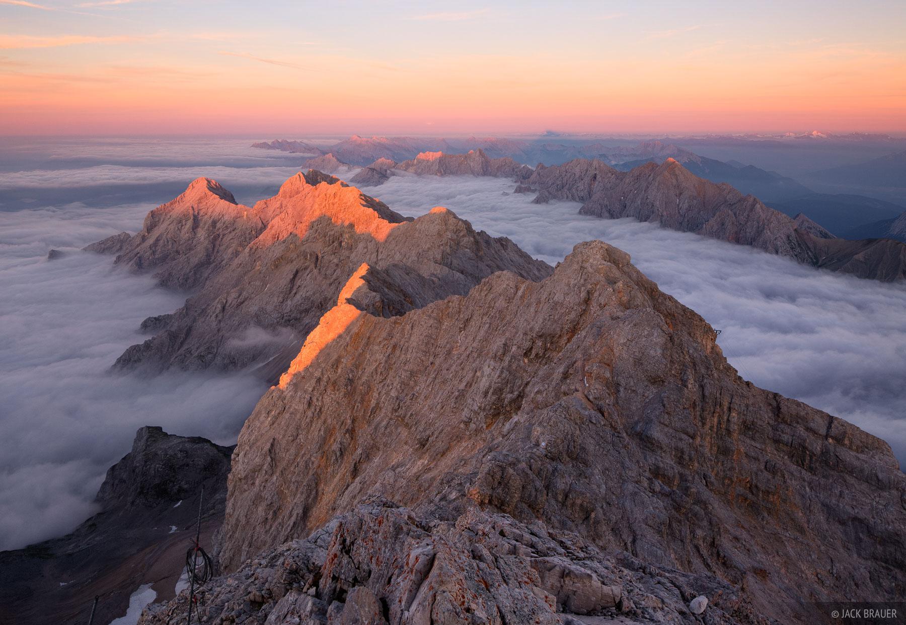 Zugspitze, Wettersteingebirge, Germany, summit, sunset, photo