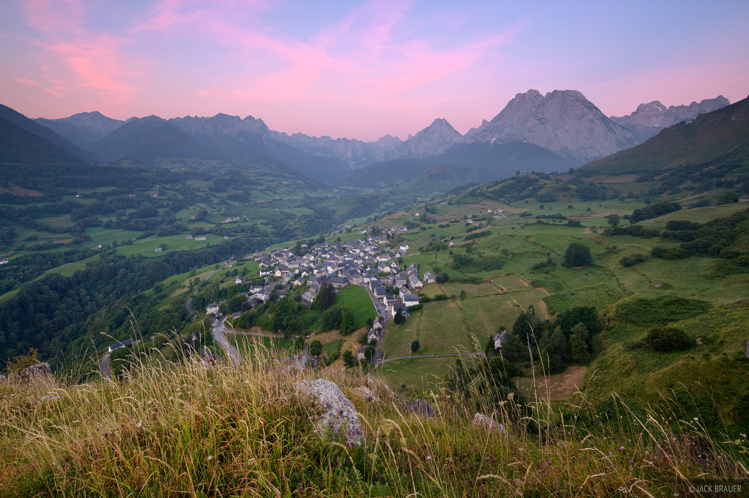 Lescun, France, Pyrenees, sunrise, town, photo