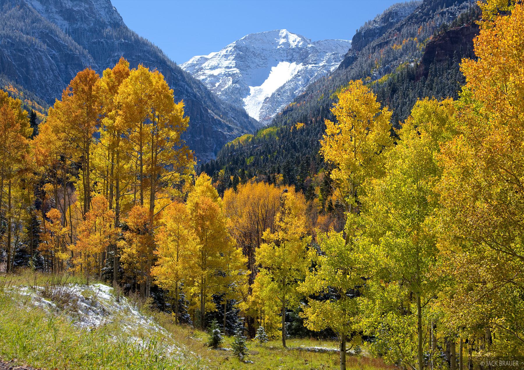 San Juan Mountains, Colorado, autumn, aspens, United States Mountain, Camp Bird, photo