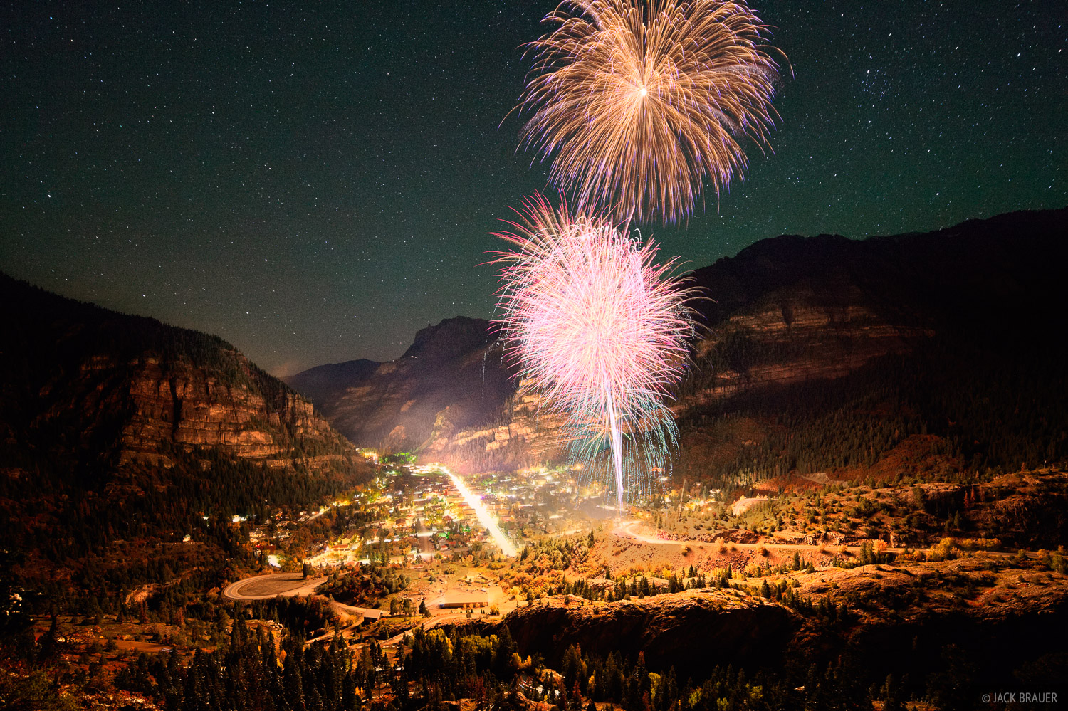 Oktoberfest, Ouray, Colorado, fireworks, photo