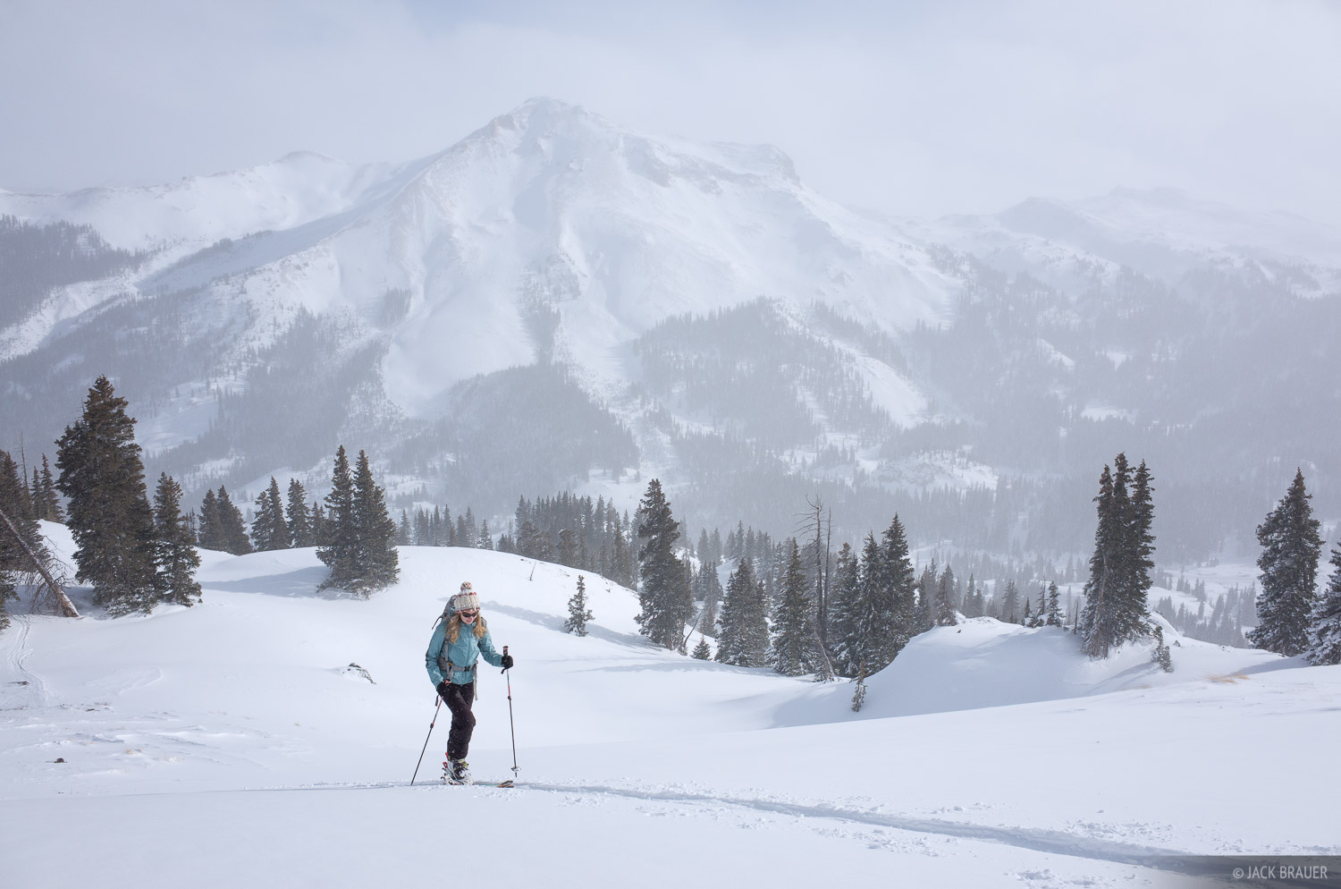 Colorado,December,Red Mountain Pass,San Juan Mountains,skiing, photo