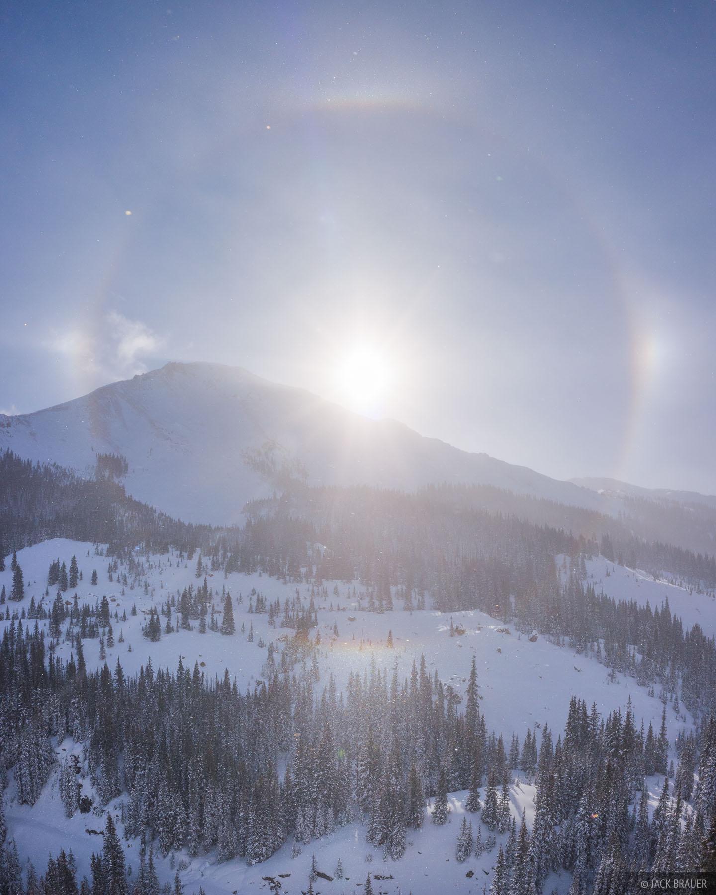 A sundog over Red Mountain #3, December.