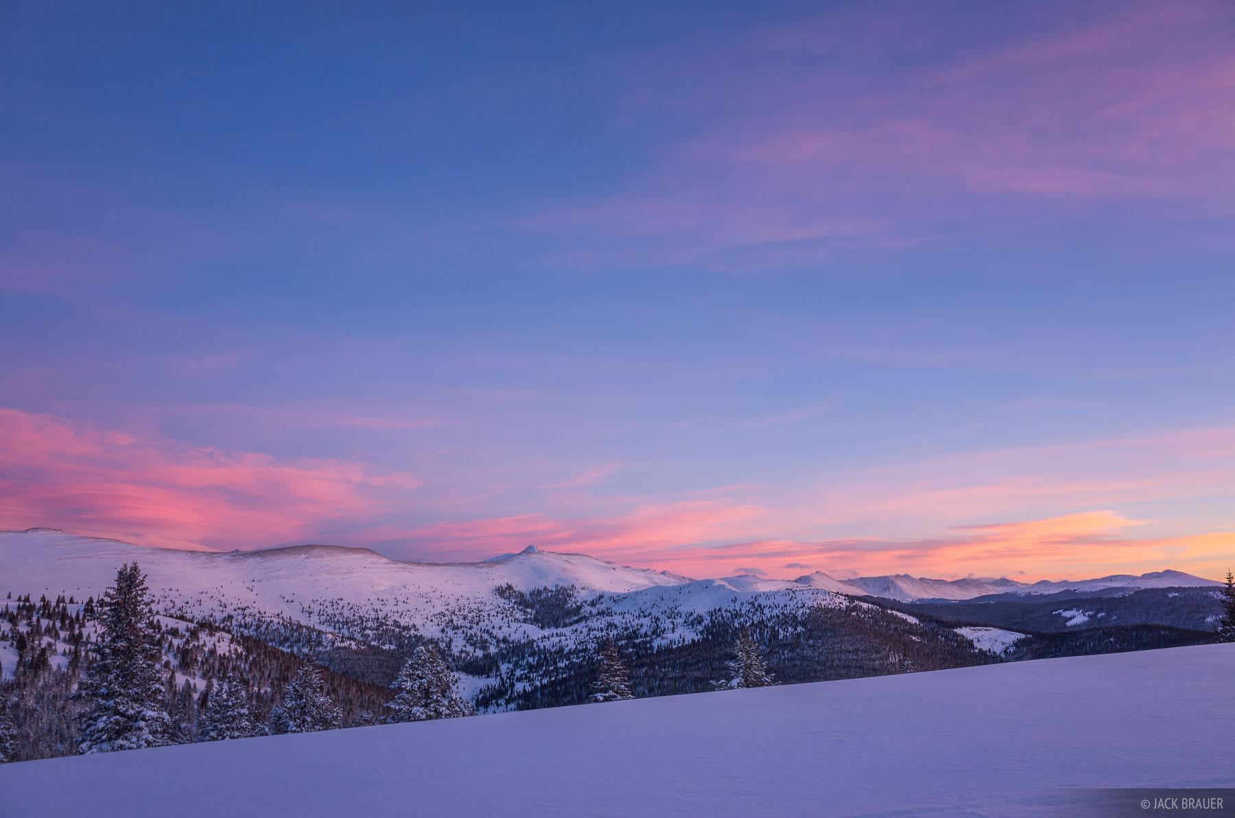 Colorado, Fowler Hilliard, Gore Range, January, sunset, Fowler/Hilliard, winter, active, 2014