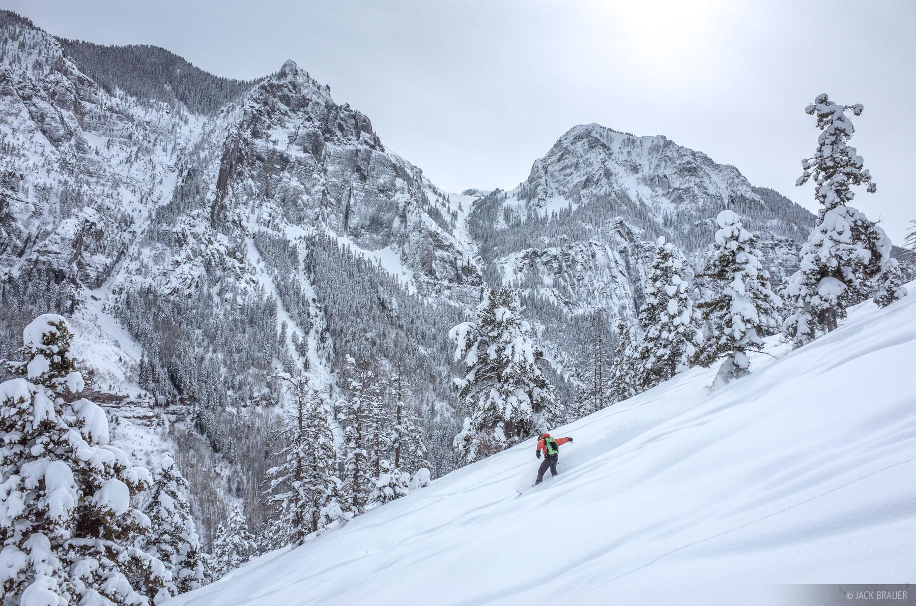 Colorado, San Juan Mountains, Weehawken, skiing, February, powder, photo