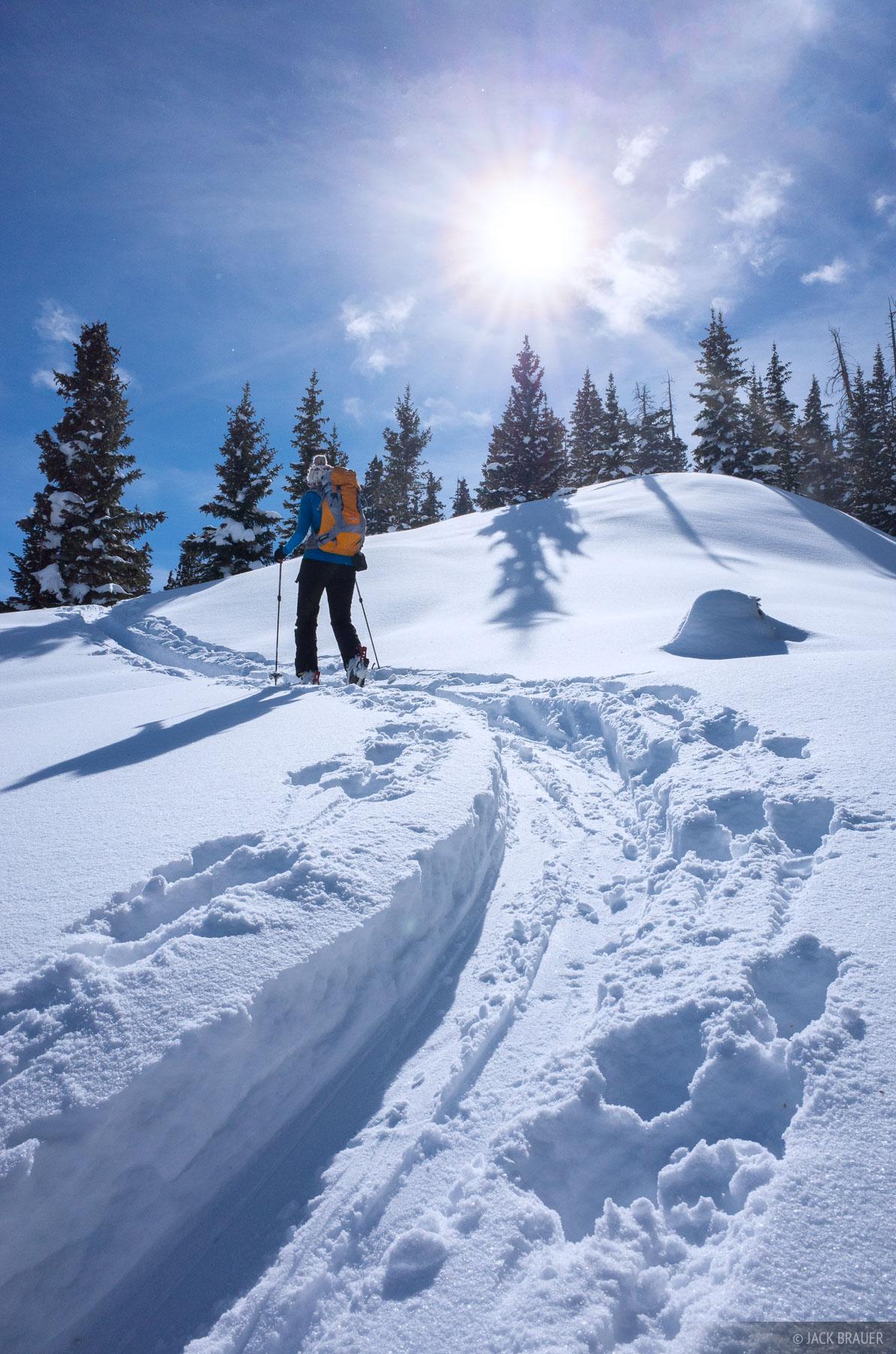 Colorado, Red Mountain Pass, San Juan Mountains, skinning, February, winter, 2014
