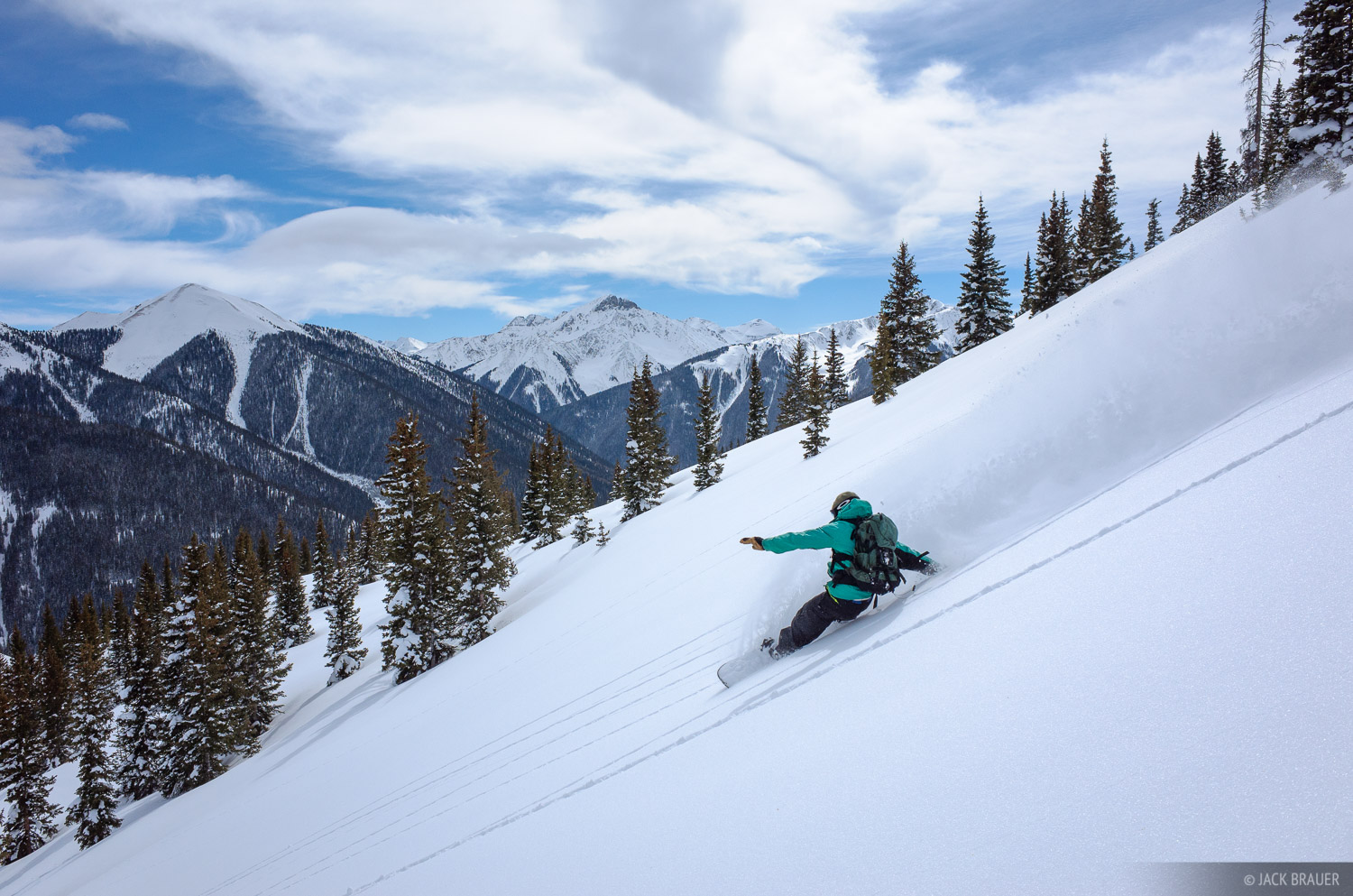 Colorado,Red Mountain Pass,San Juan Mountains, snowboarding, photo
