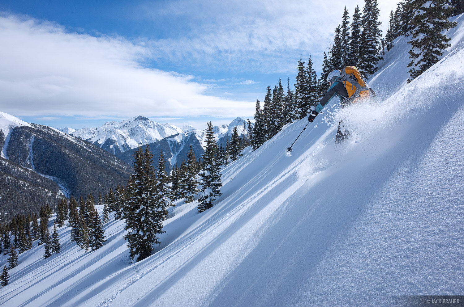 Colorado,Red Mountain Pass,San Juan Mountains, skiing, photo