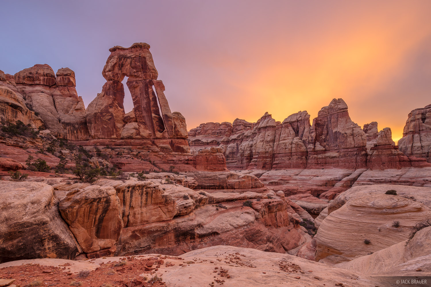 Canyonlands National Park, Needles District, Utah, Elephant Canyon, Druid Arch, photo
