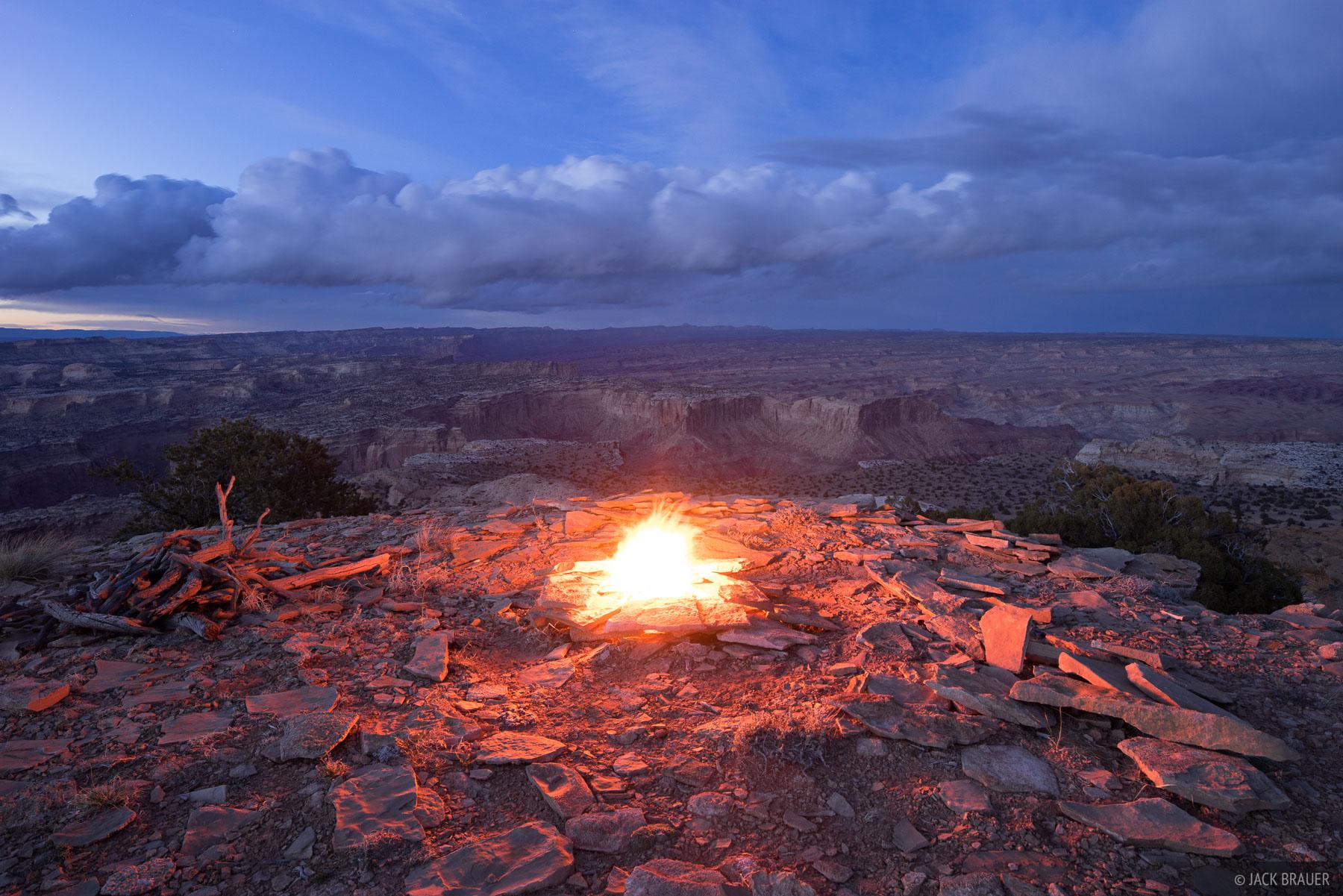 Chimney Canyon,San Rafael Swell,Utah,campfire, photo