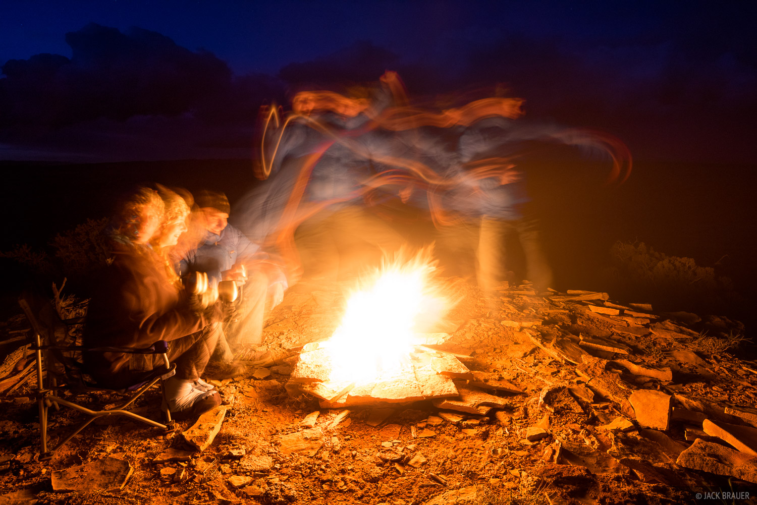 Chimney Canyon,San Rafael Swell,Utah,campfire, photo