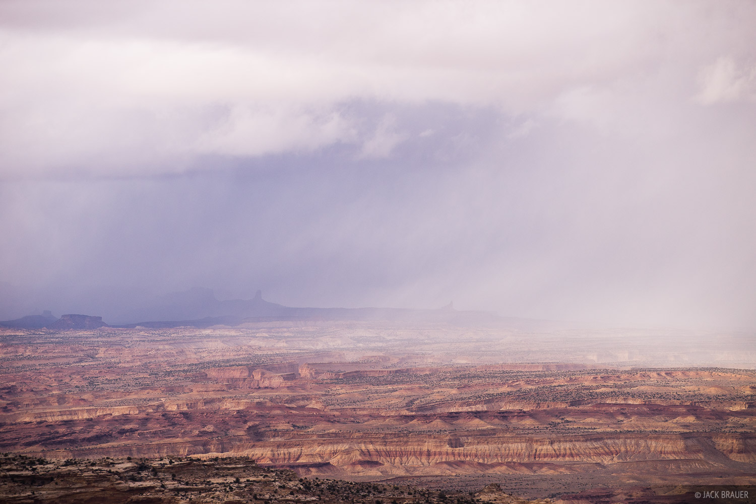 Rain clouds pass over remote canyon country in southern Utah.