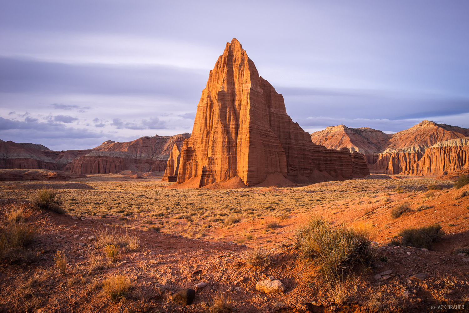 Sunrise light in Lower Cathedral Valley.