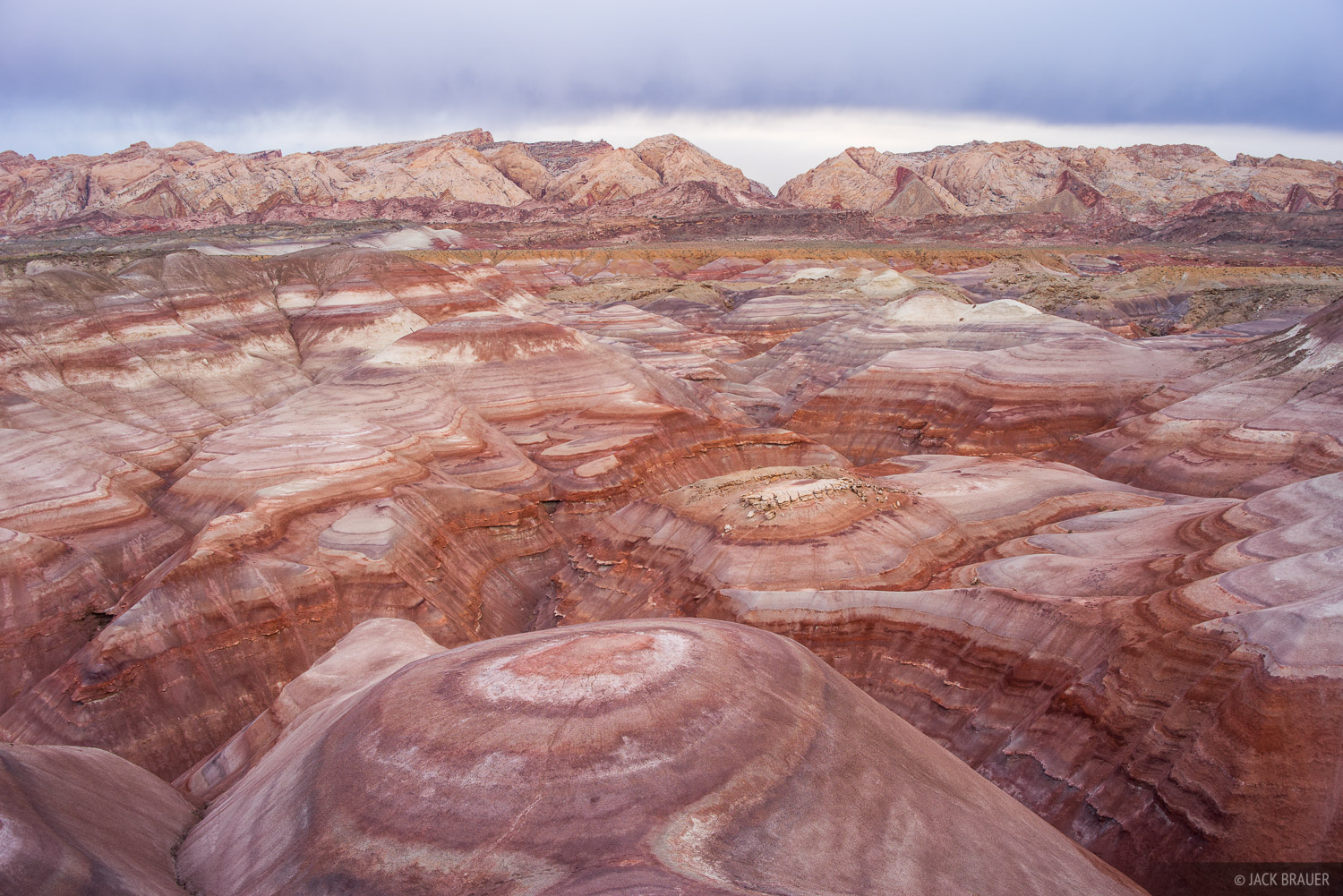 A labyrinth of colorful bentonite hills.