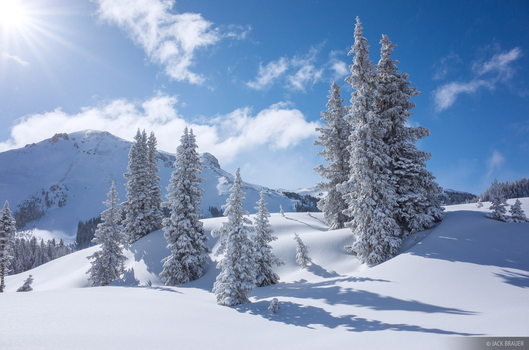 Colorado,Red Mountain Pass,San Juan Mountains, snowy, trees, photo