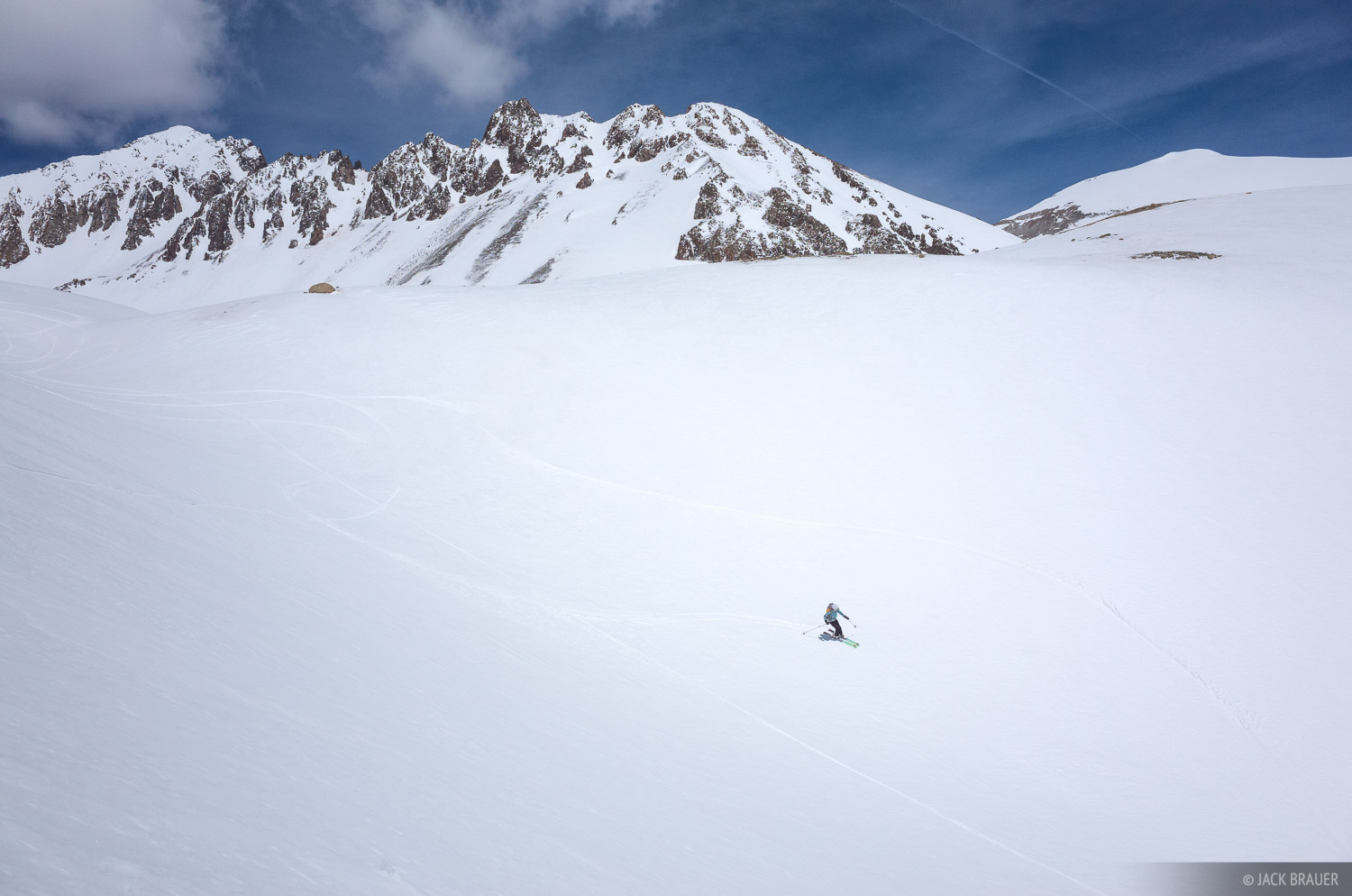Colorado, San Juan Mountains, Sneffels Range, skiing, photo