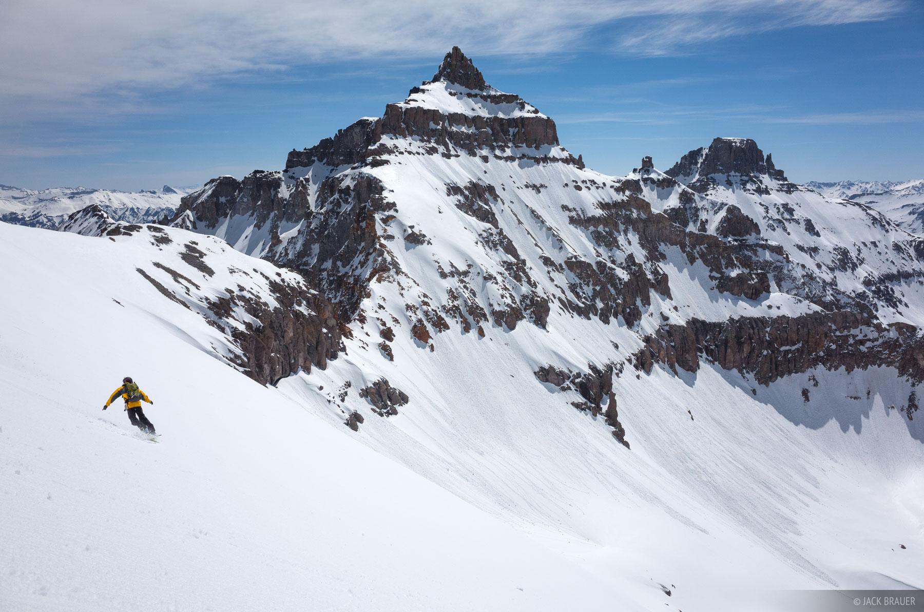 Cirque Mountain,Colorado,San Juan Mountains,Sneffels Range, snowboarding, photo