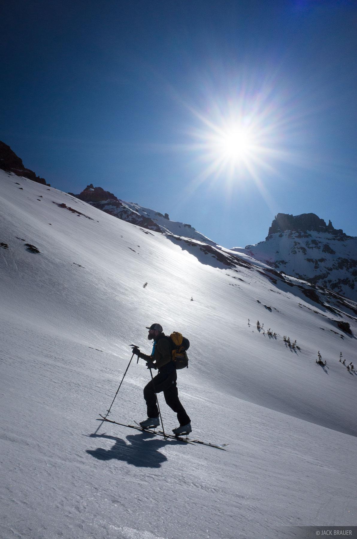 Cirque Mountain,Colorado,San Juan Mountains,Sneffels Range, skiing, photo