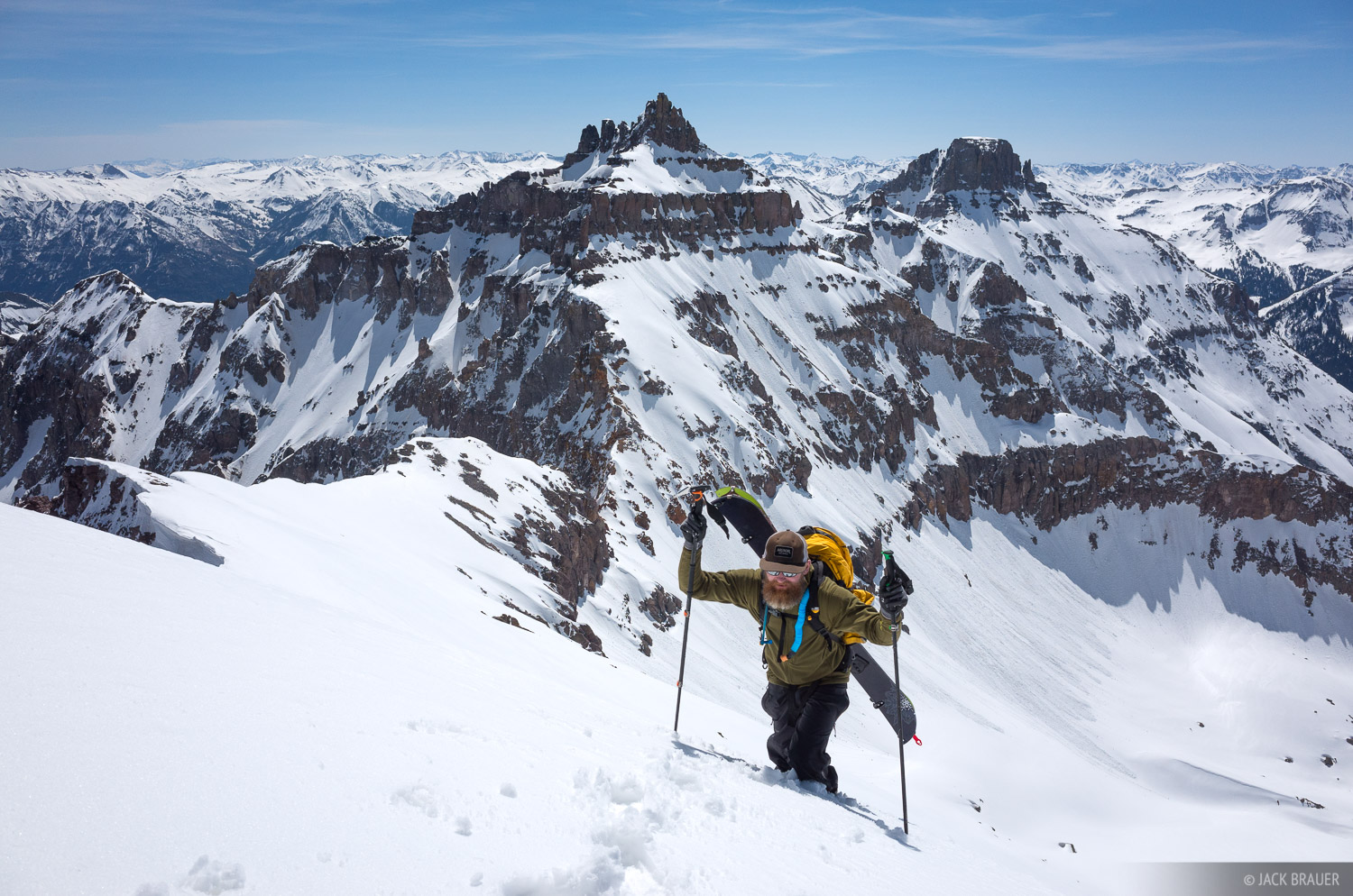 Cirque Mountain,Colorado,San Juan Mountains,Sneffels Range, Teakettle, Potosi Peak, April, photo