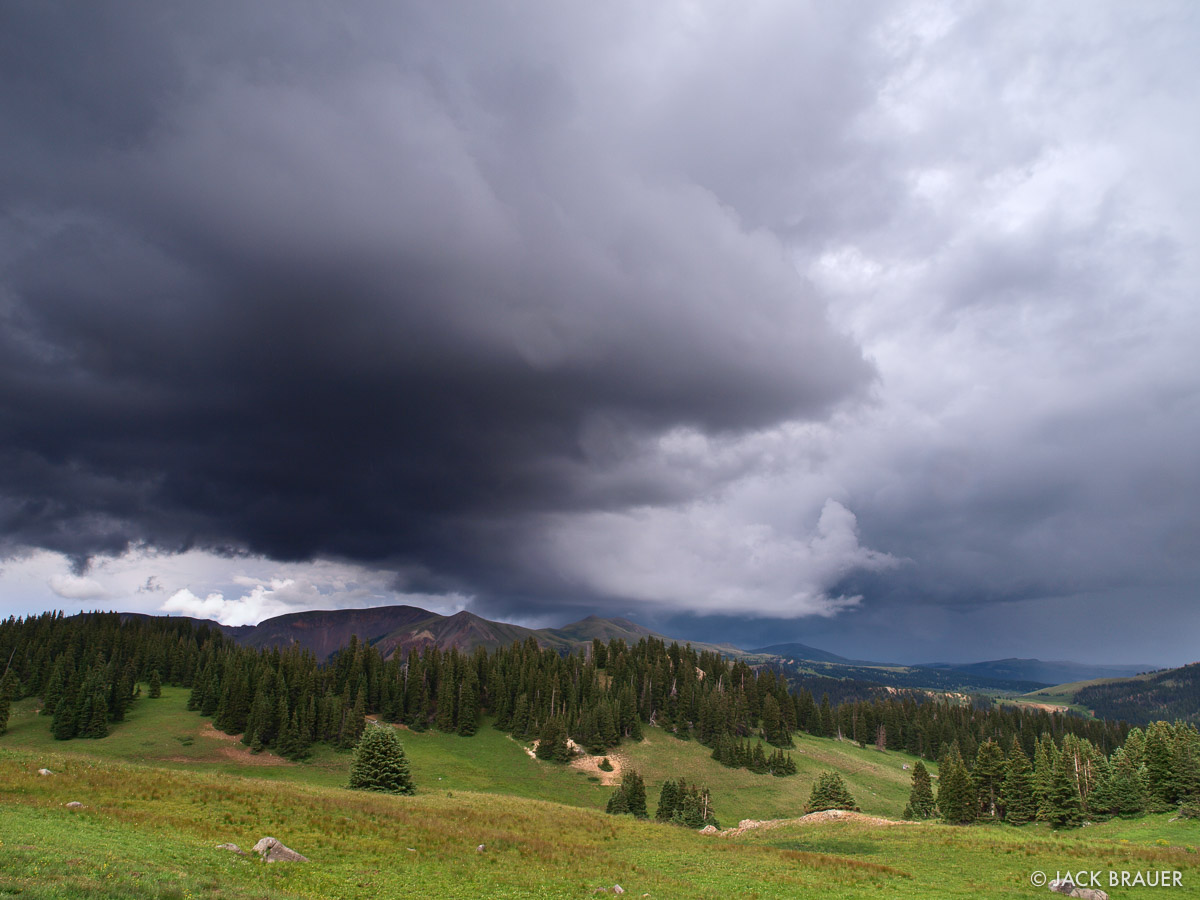 ominous cloud, South San Juans, Colorado, photo