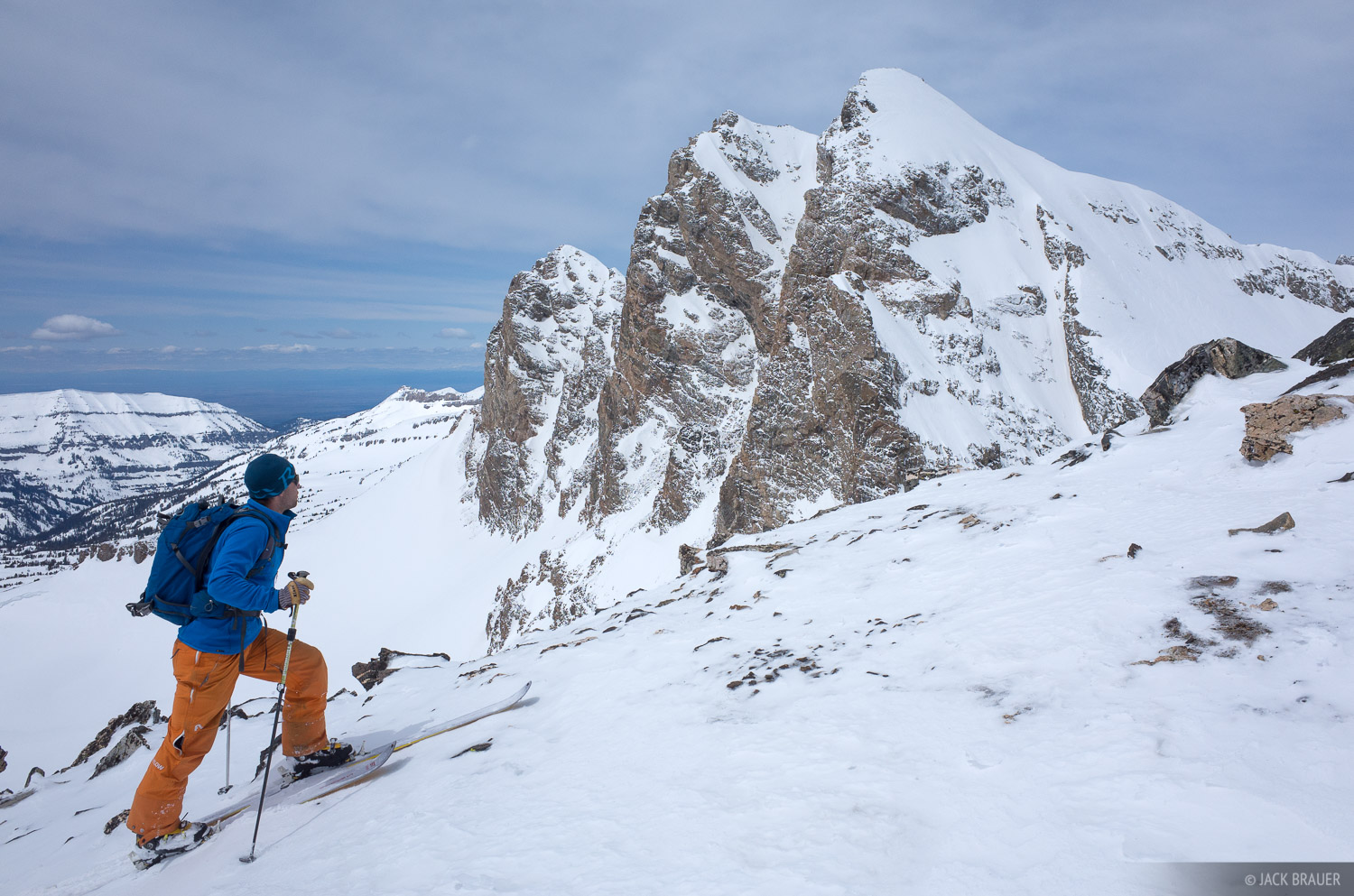 Static Peak,Tetons,Wyoming, skiing, photo