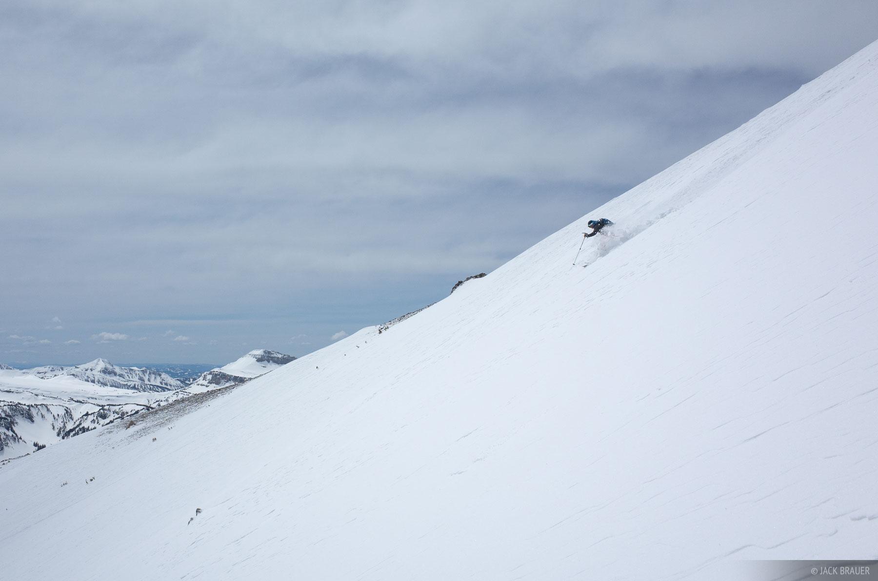 Static Peak,Tetons,Wyoming, skiing, photo