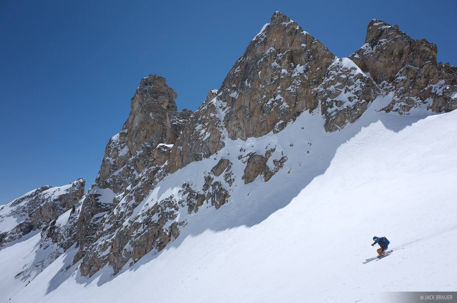 Tetons, The Jaw, Wyoming, skiing, Grand Teton National Park, photo