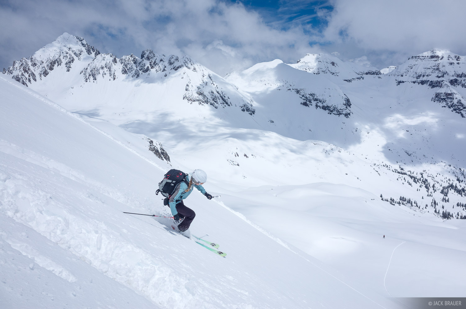 skiing, Colorado,San Juan Mountains,Sneffels Range, photo