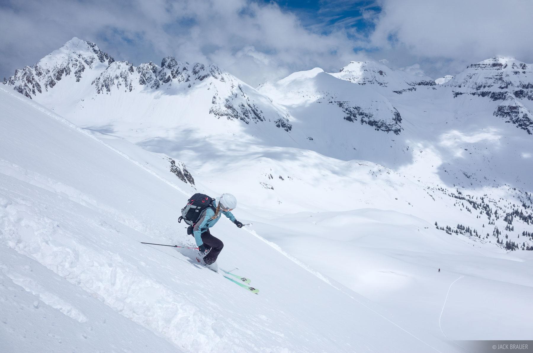 skiing, Colorado,San Juan Mountains,Sneffels Range, photo