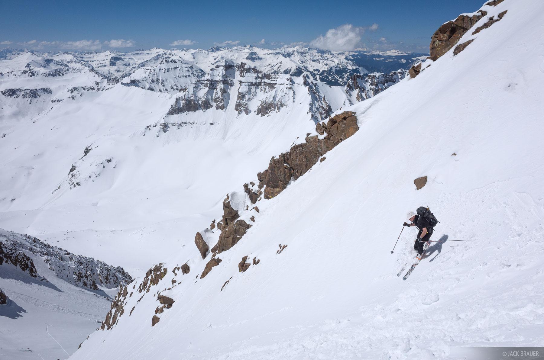 Colorado,Mt. Sneffels,San Juan Mountains,Sneffels Range, skiing, photo