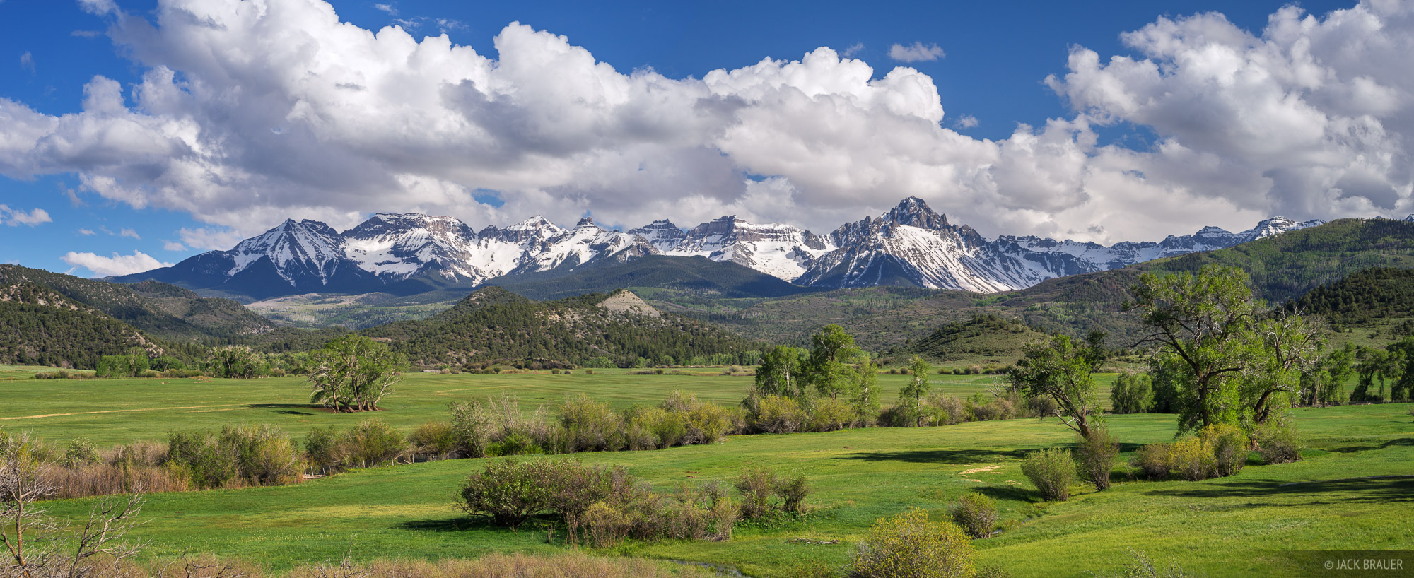 Mt. Sneffels, Double RL, ranch, Ridgway, Colorado,San Juan Mountains,Sneffels Range, panorama, photo