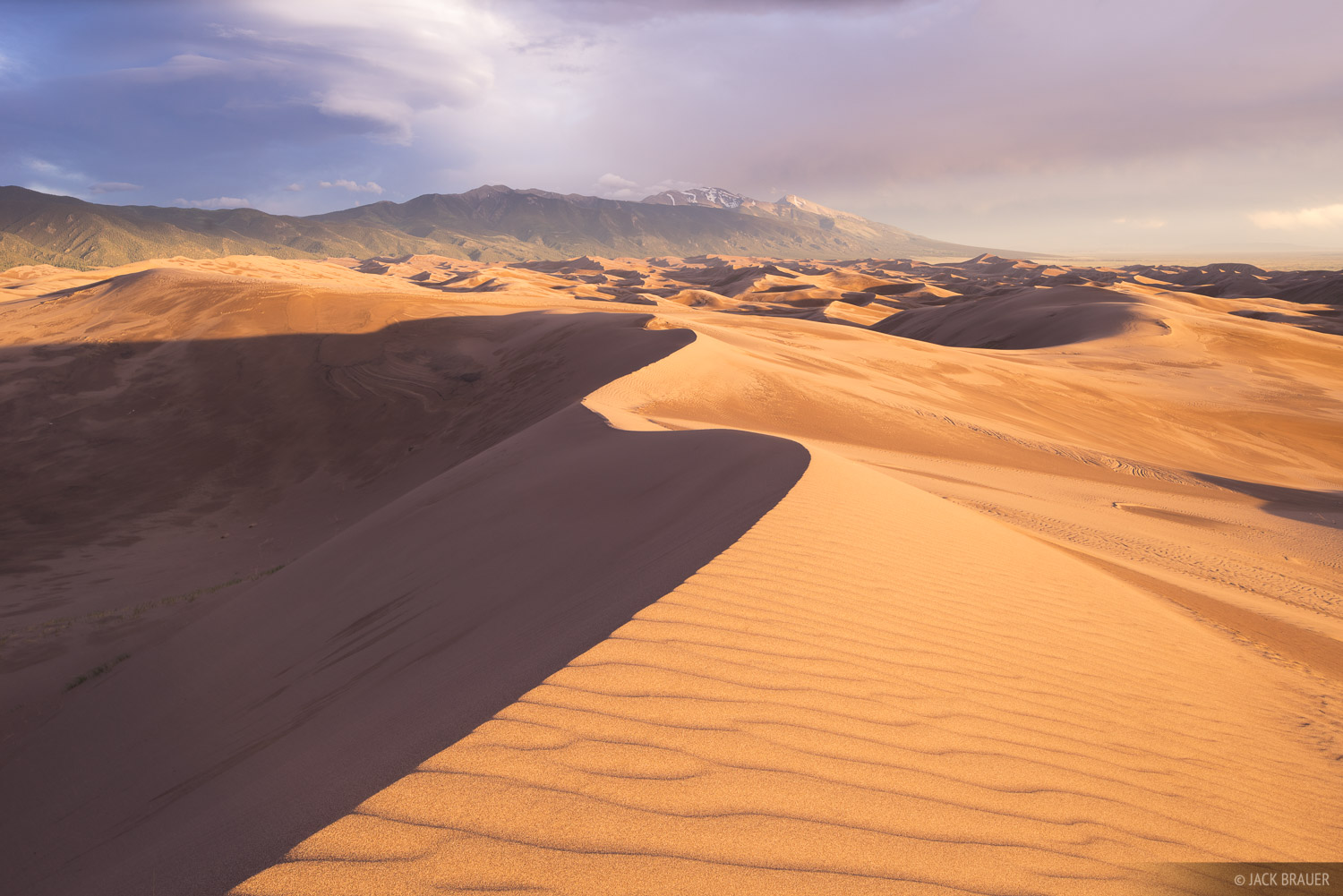 Sunset in the northern end of the Great Sand Dunes.