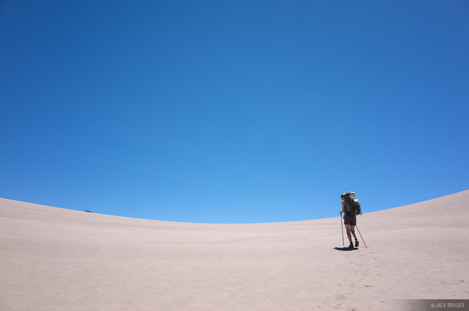 Hiking in the Great Sand Dunes.