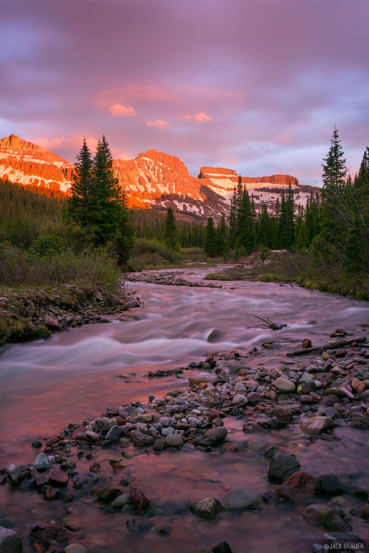 Cimarrons,Colorado,San Juan Mountains, Redcliff, Coxcomb, West Fork, sunset, photo