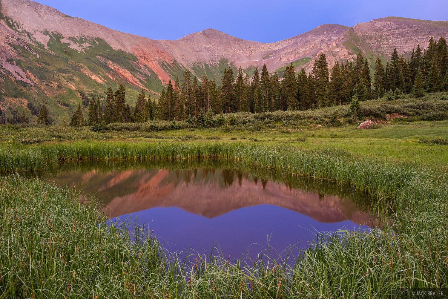 Colorado,San Juan Mountains, Grand Turk, reflection, photo
