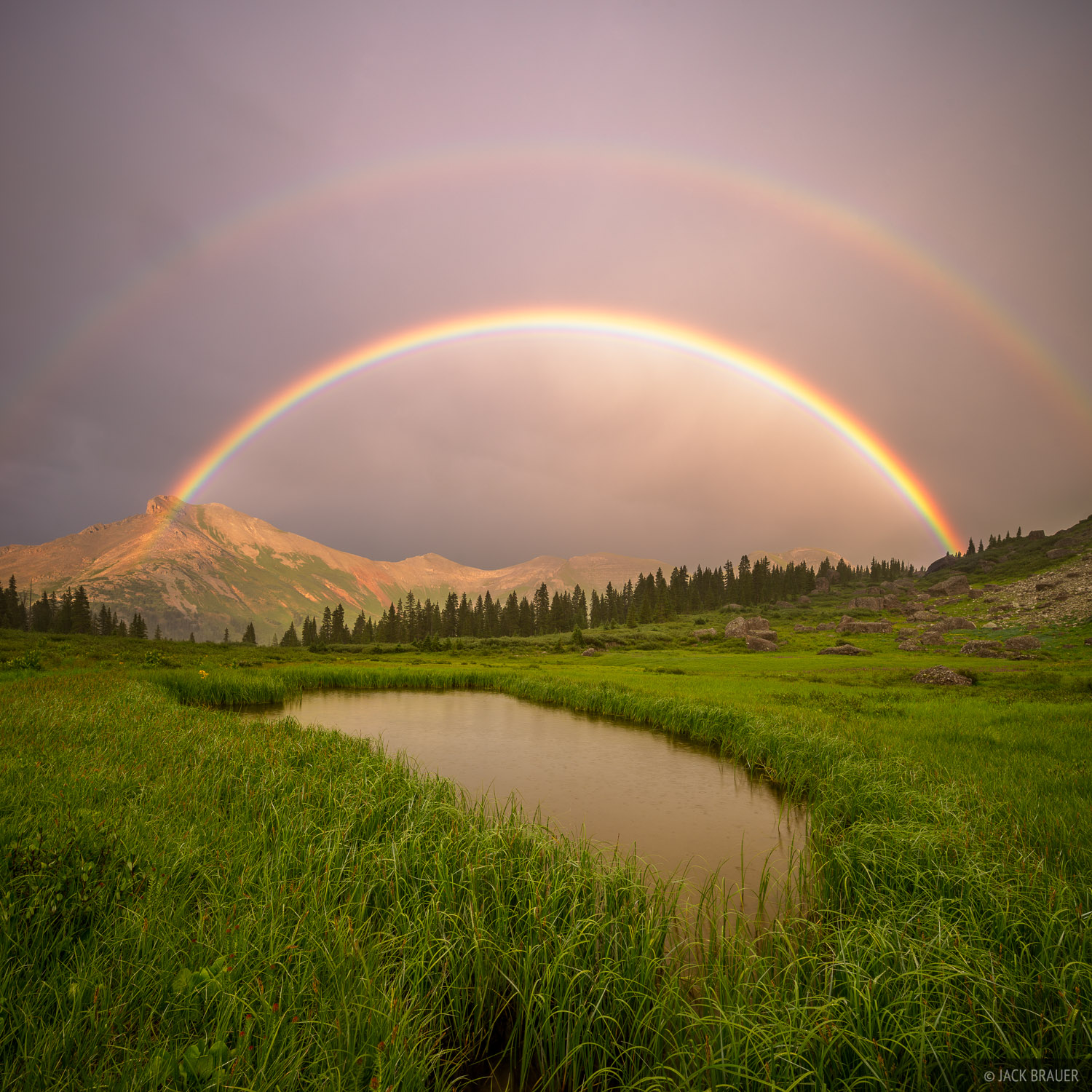 Colorado,San Juan Mountains,Sultan Mountain,rainbow, photo