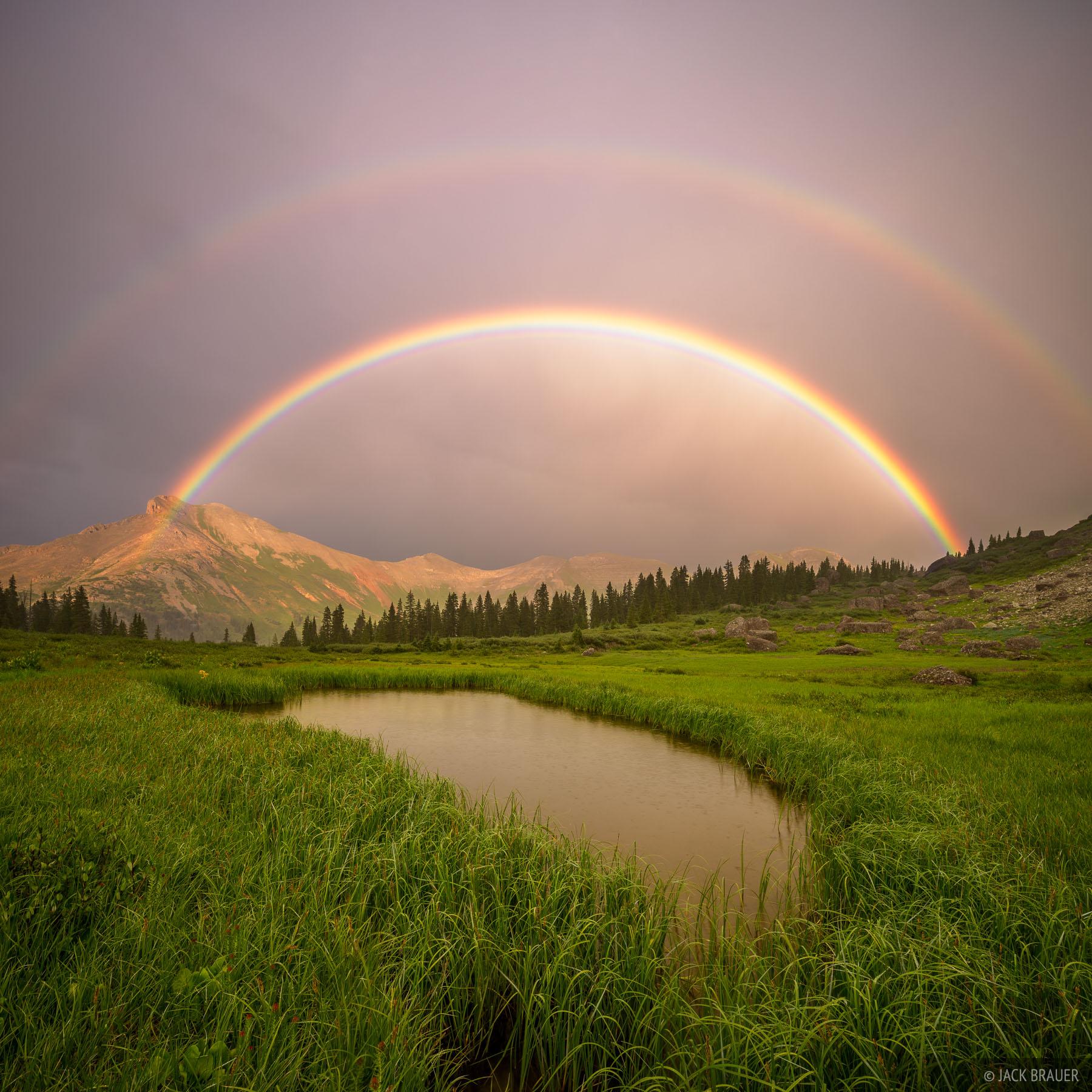 Colorado,San Juan Mountains,Sultan Mountain,rainbow, photo