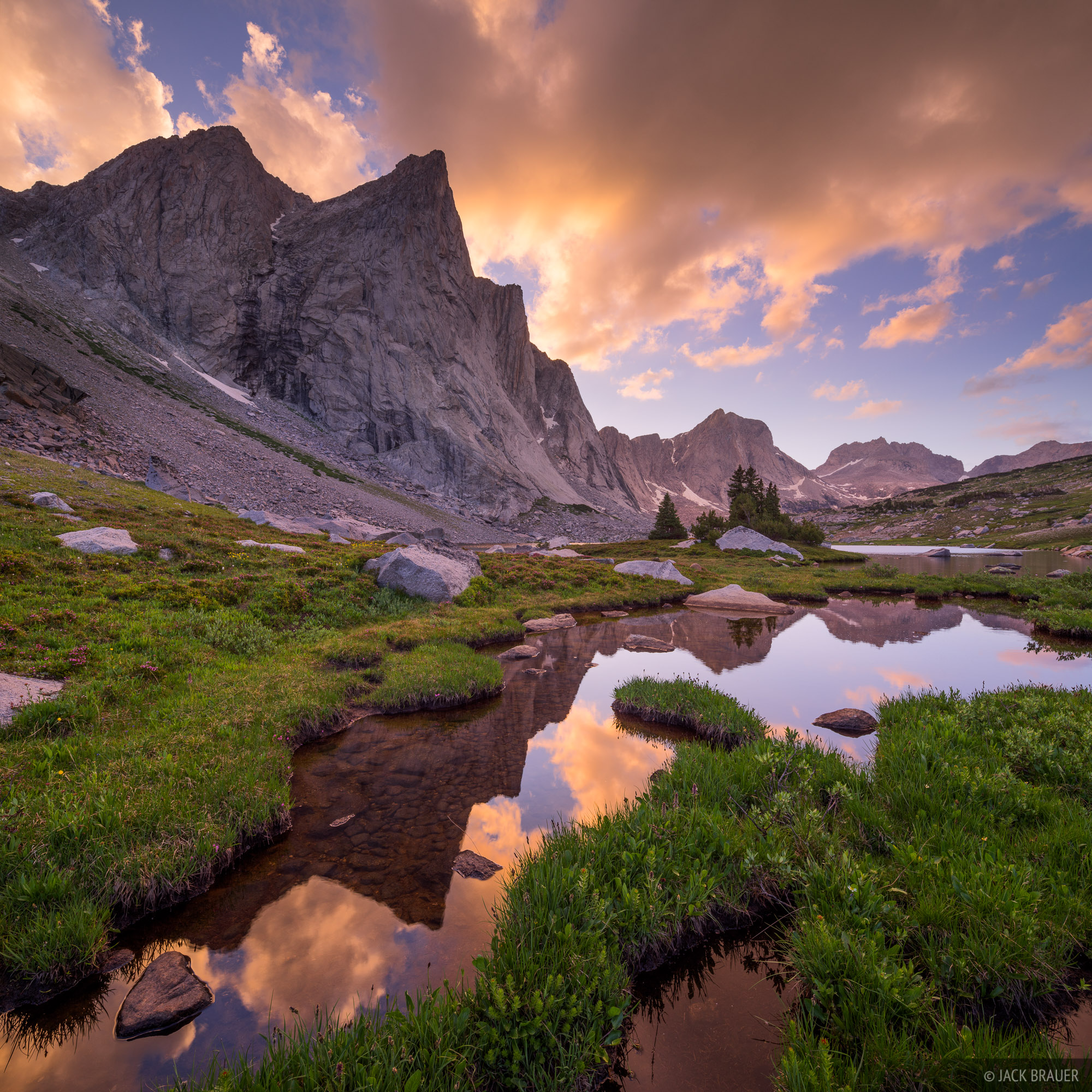 Ambush Peak,Mount Bonneville,Raid Peak,Wind River Range,Wyoming, photo
