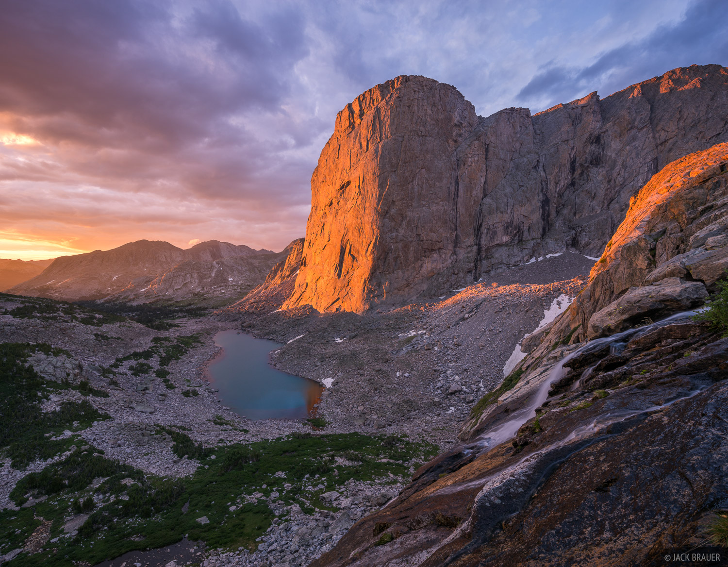 Mount Hooker,Wind River Range,Wyoming, sunrise, photo