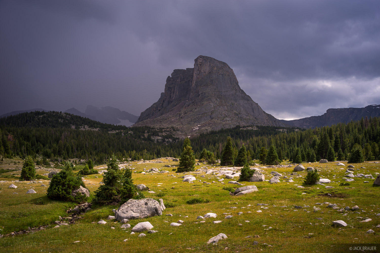 A thunderstorm approaches above Buffalo Head (11,717 ft.).
