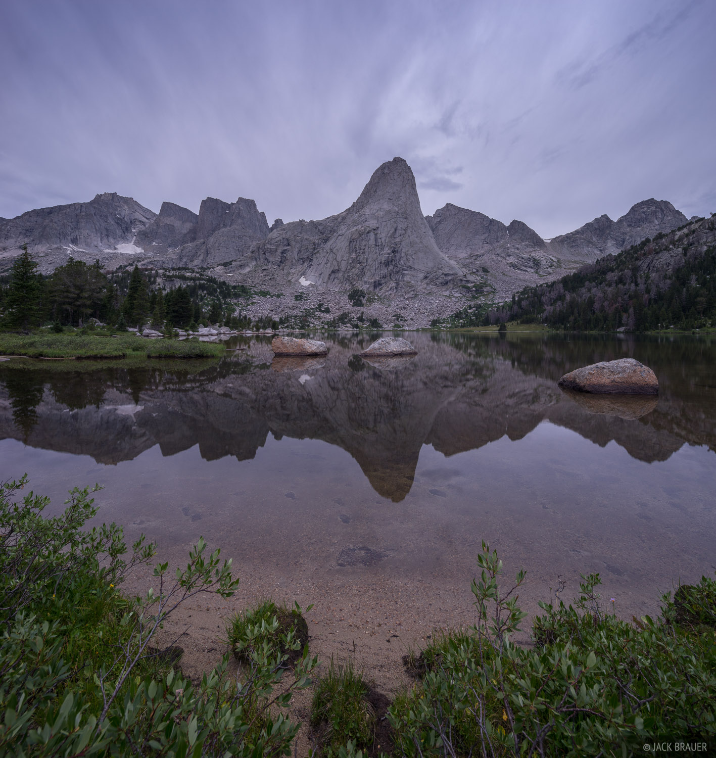 Cirque of the Towers,Pingora Peak,Wind River Range,Wyoming, Lonesome Lake, photo