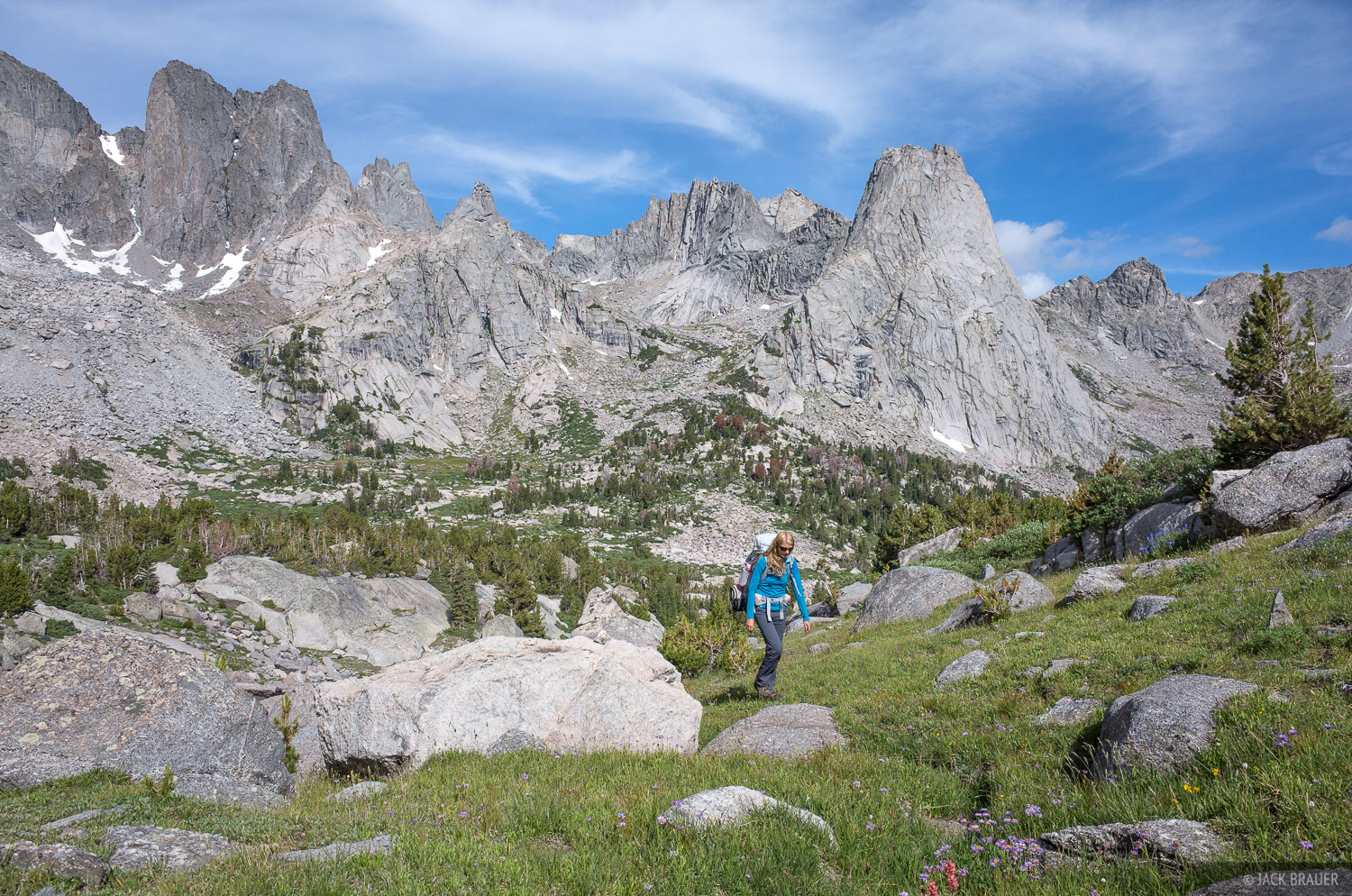 Cirque of the Towers,Pingora Peak,Wind River Range,Wyoming, hiking, photo