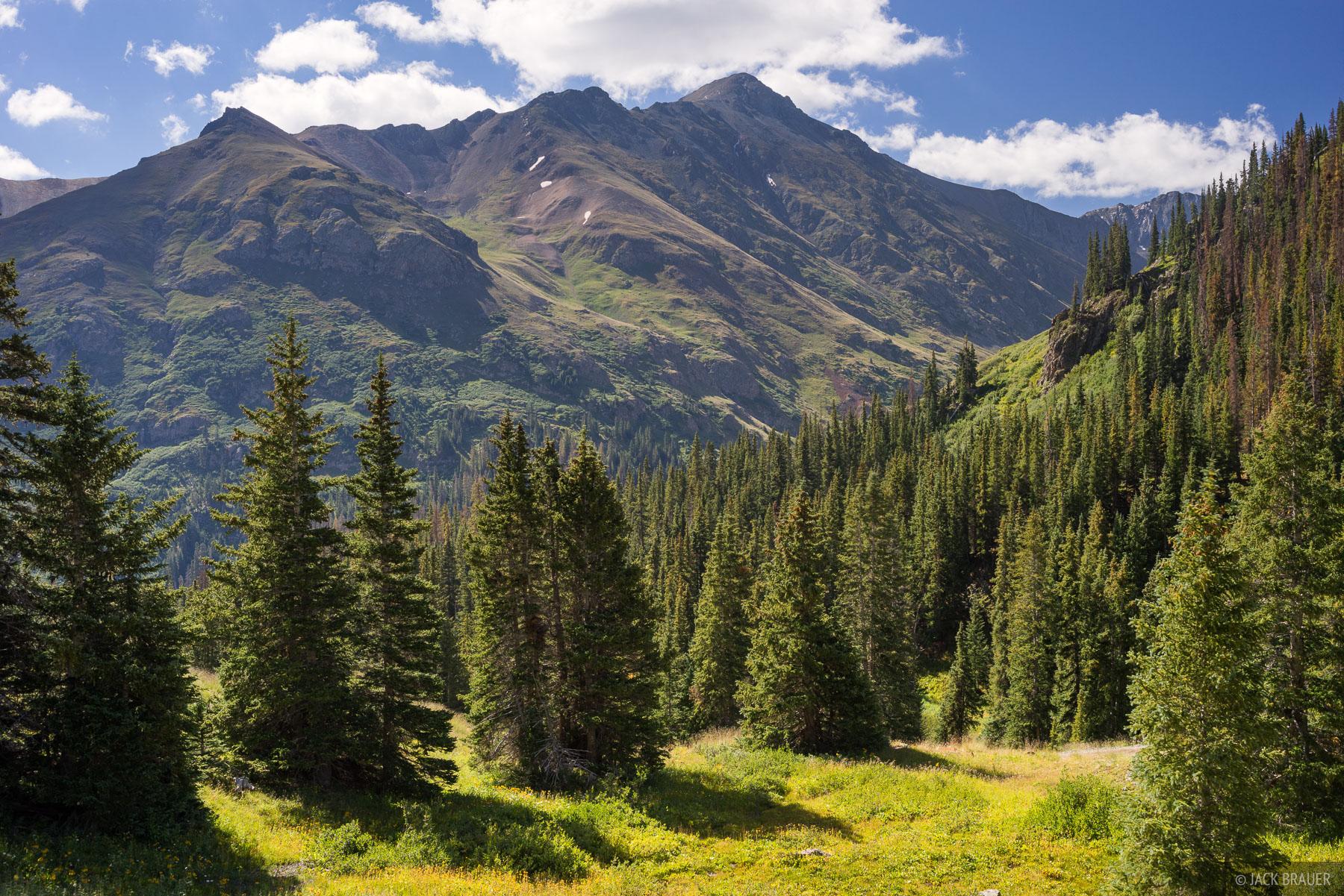 Handies Peak (14,053 ft.) as seen from north in late August.