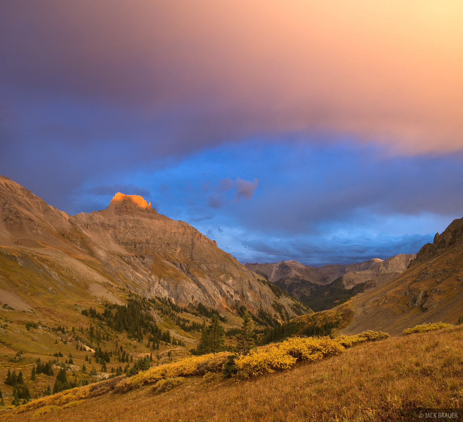 Colorado,Potosi Peak,San Juan Mountains,Sneffels Range, sunset, Yankee Boy Basin, photo