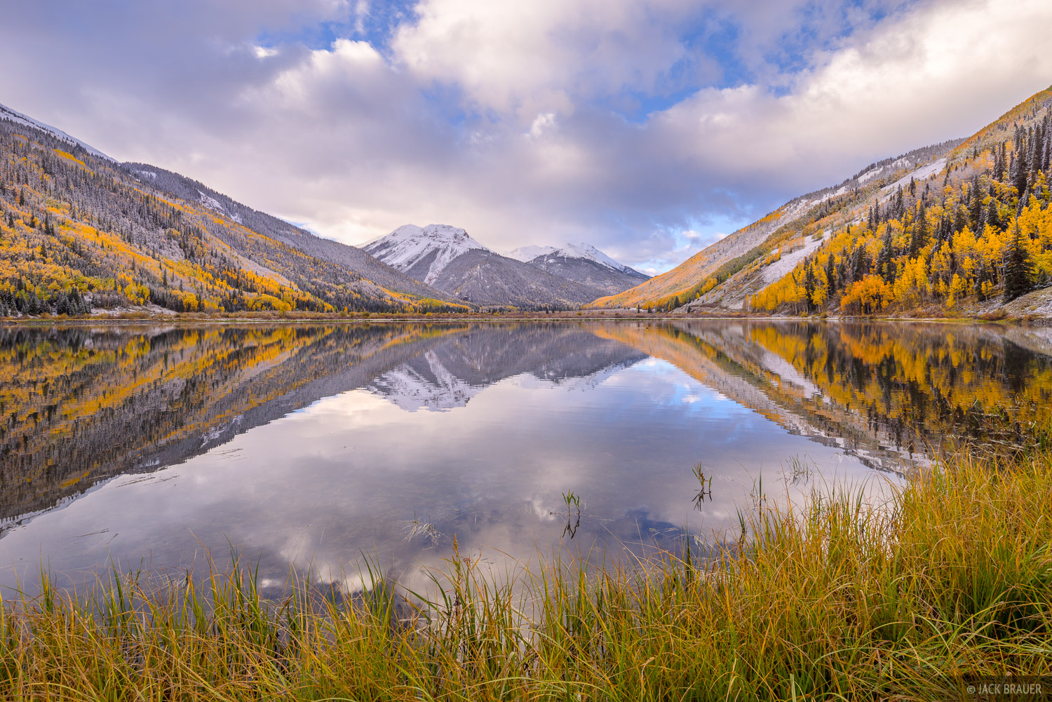 Colorado,Crystal Lake,Red Mountain Pass,San Juan Mountains, aspens, photo