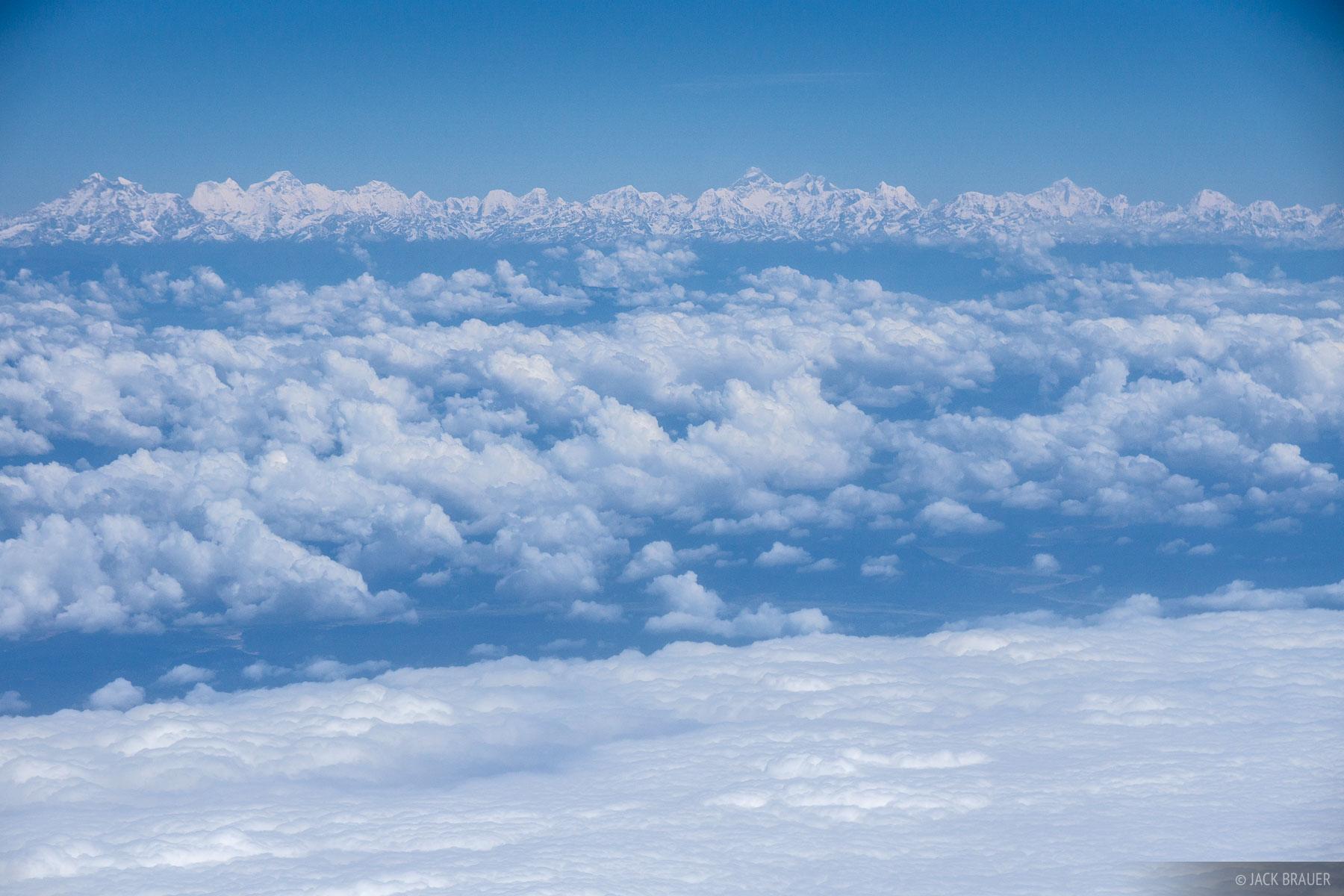 Himalaya,aerial, Mt. Everest, Nepal, photo