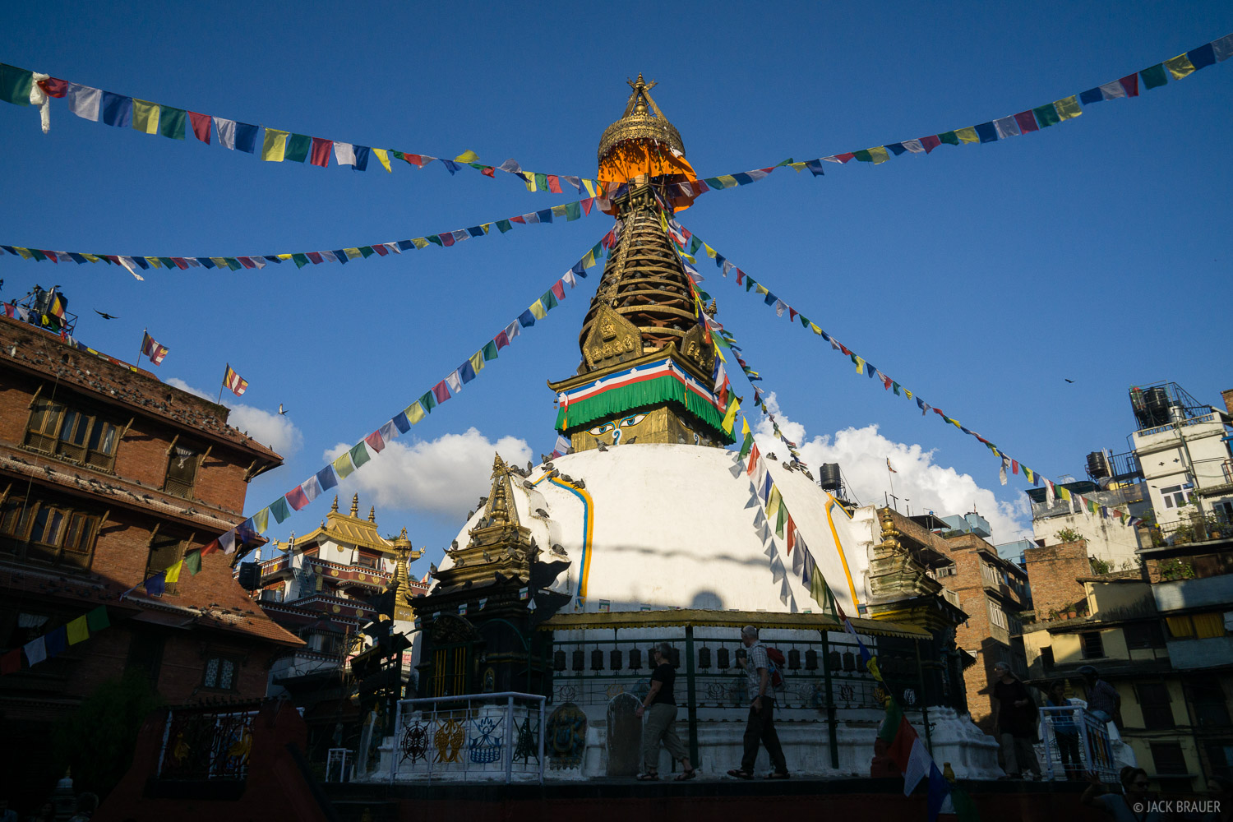 A Buddhist stupa in the Thamel district of Kathmandu.