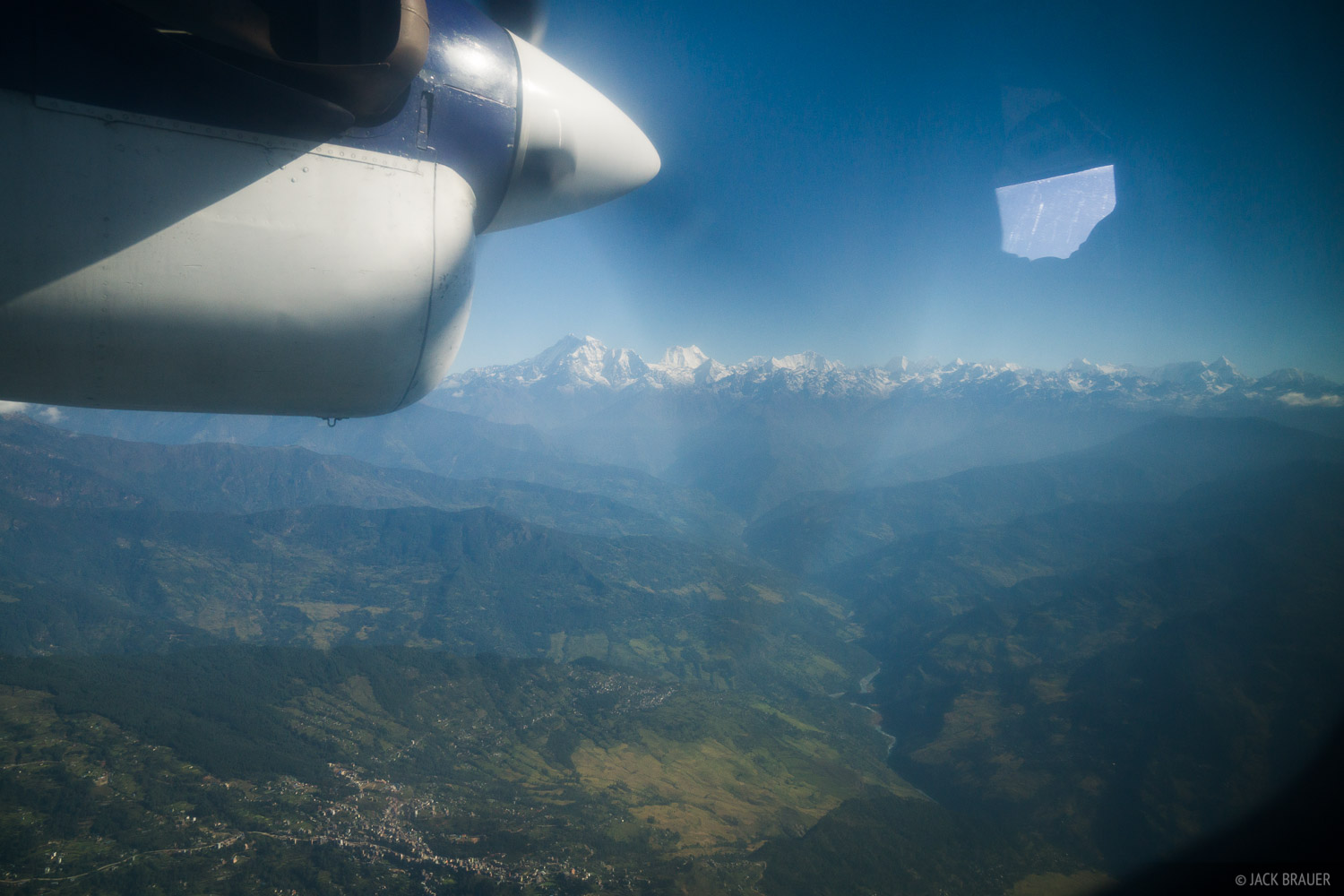 Flight from Kathmandu to Lukla.