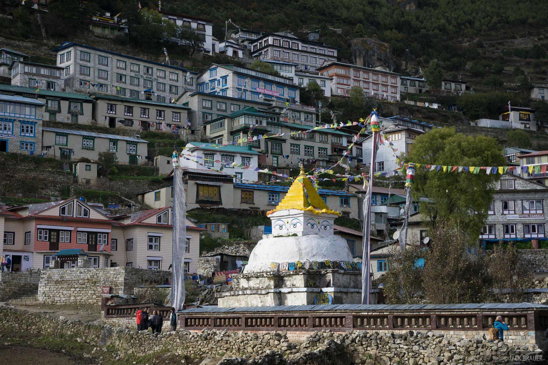 Himalaya,Khumbu,Namche Bazaar,Nepal,stupa, photo