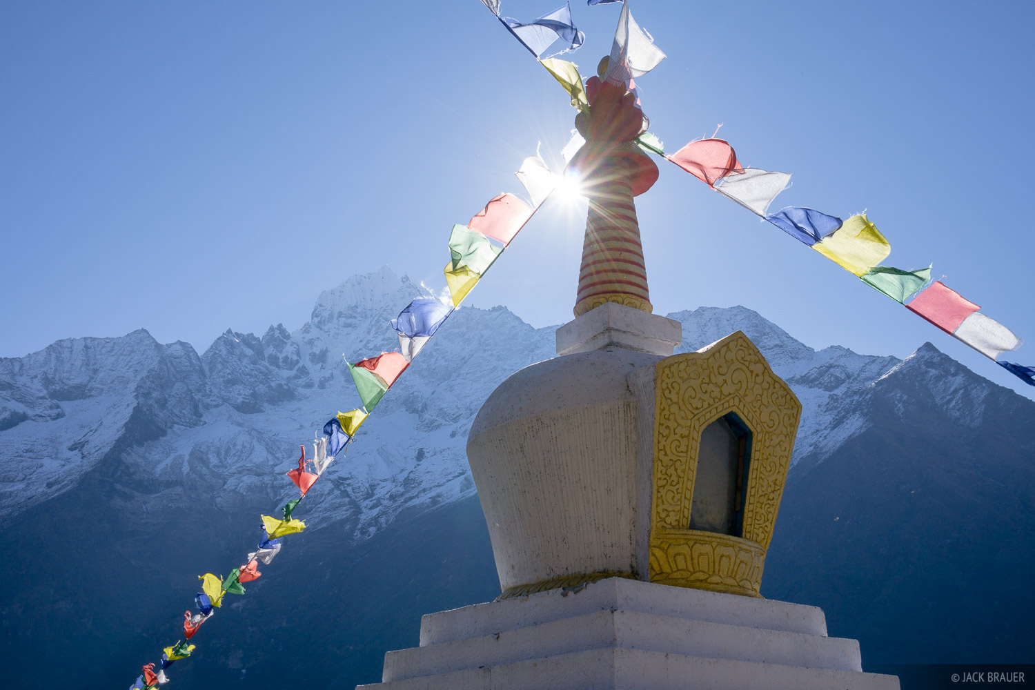 Himalaya,Khumbu,Nepal,prayer flags,stupa, photo